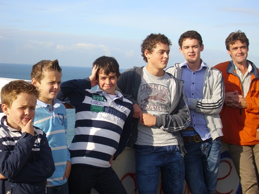 Sam, Bart, Rik, Klaas, Job en Kees